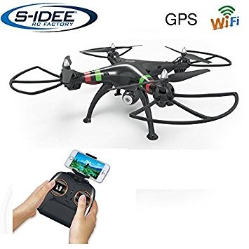 s-idee® 17115 H809W GPS Wifi Rc Drohne HD Kamera FPV RC Quadrocopter Höhenstabilisierung, One Key Re